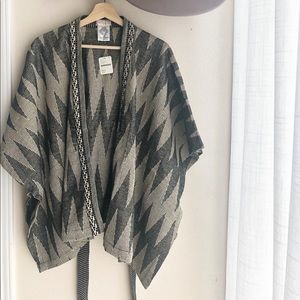 NWT Free People Ava Structured Shimmer Kimono OS